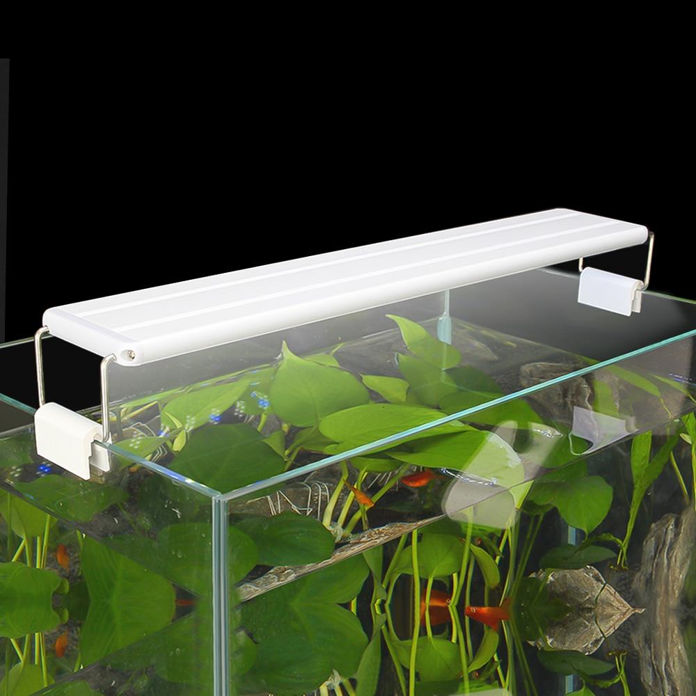 Extendable Slim Aquarium Dimmable Clip on Light Aquarium Plant Light 220V 110V 5W 8W 11W 16W Fish Tank Aquarium Led Lighting in Lightings from Home Garden