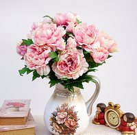 2016 Bouquet Artificial Fake Peony Silk Flower Home Room Bridal Hydrangea Decor For Wedding Party Garden