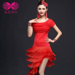 Танцевальные костюмы для Специальное предложение Новые Для женщин акрил Костюмы для латиноамериканских танцев платье Танго Для женщин S