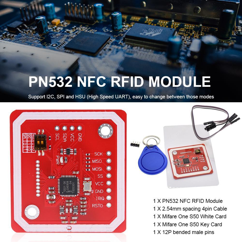 GREATZT PN532 NFC RFID Wireless Module V3 User Kits Reader Writer Mode IC  S50 Card PCB Attenna I2C IIC SPI HSU For Arduino