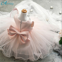 Babe Lace Princess Girl Communion Dress Little Bridesmaid Wedding Pageant Dresses Elegant Evening Party White Girls