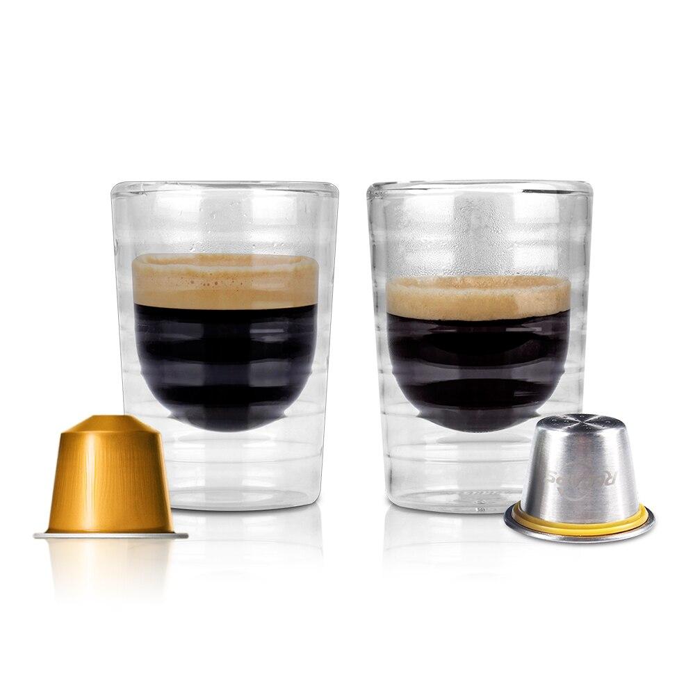 Le Jeune moderne.Cuisine-6 capsules café en acier inoxydable rechargeable et réutilisable compatible Nespresso-6 capsules café en acier inoxydable rechargeable et réutilisable compatible Nespresso. Faites n'énormes économies avec ce pack de 6 capsules compatibles avec votre machine à dosettes type Nespresso. Fournie avec 240 joints en aluminium adhésifs. Le cadeau parfait pour les amateurs de café.