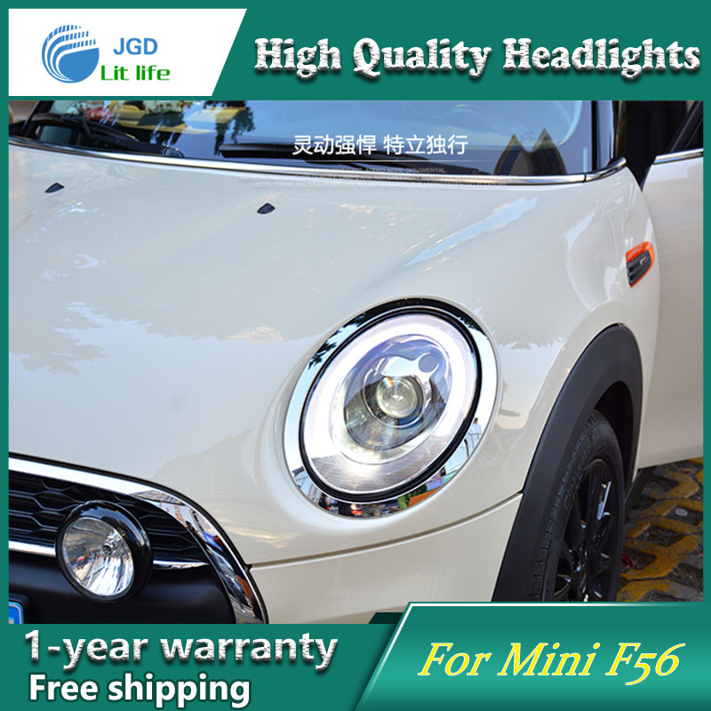Глава стайлинга автомобилей чехол лампа для мини-f65 в фары Сентра 2014 светодиодные фары DRL Н7 d2h, можно запасной вариант би ксенон Луч