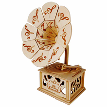 A Kids Toys Of 3D Wooden Puzzles Gramophone Educational Toy Intelligence Cultivate Childrens Creativity Good Gift For Family