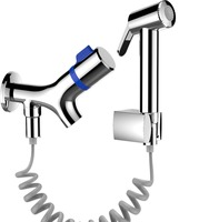 CRW Bidet Spray for Toilet Brass Hand Held Sprayer Douche Kit Bidet Faucet Tap Toilet Peg Shower Spray Bathroom Accessories