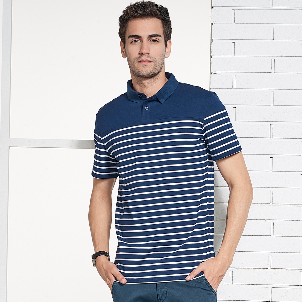 aab192dd44f9 HTLB New Luxury Brand Men Casual Cotton Silk Polo Shirt Men Summer Mens  Striped Short Sleeve Slim Fit Male Polos Shirts Men-in Polo from Men s  Clothing on ...