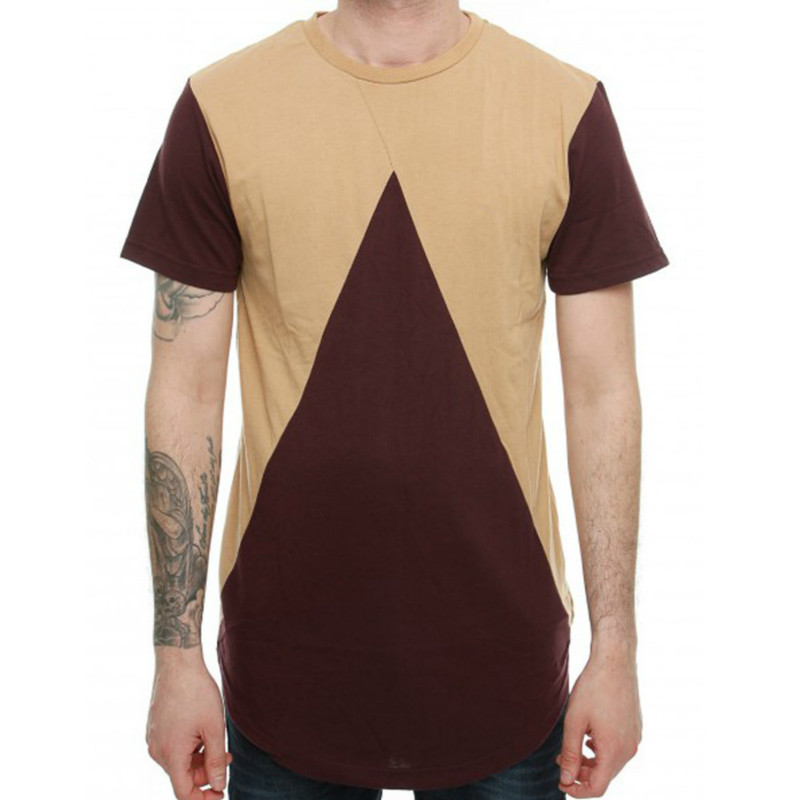 Summer New Men's Stitching Color Round Neck T-shirt Fashion Tshirts Tops Mens Clothing T Shirts Men Short Sleeve 3colour