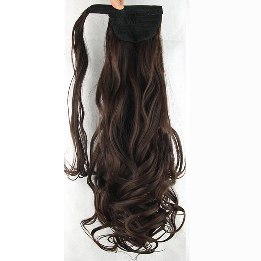 Soowee 10 Цвета Синтетические волосы волнистые клип в хвост волос парики Поддельные волос пони хвосты Хвостики Наращивание натуральных волос