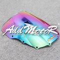 Motorcycle Iridium Colorful Windshield WindScreen Double Bubble For Kawasaki ZZR400R 1993-2007 ZZR 400R 93-07+Free Shipping