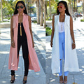 2016 New women hot fashion sleeveless casual dress solid long dress summer maxi dress SMR079