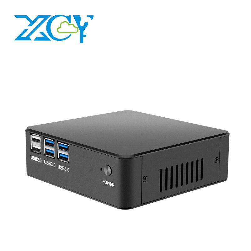 XCY X35 Mini PC Computer Intel Celeron 3965U 4K UHD Windows 10 Intel HD Graphics 610 HDMI VGA 300M WiFi Gigabit LAN Minipc NUC