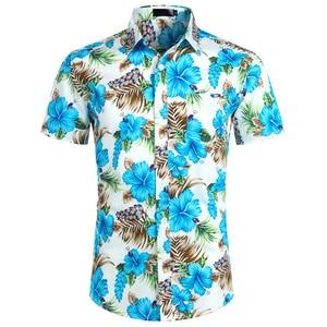 Image 3 - Hawaiian Camicette Mens Tropical Rosa Floreale Della Spiaggia di Estate Della Camicia Manica Corta Vacanza Abbigliamento Casual Hawaii Camicia Degli Uomini USA Taglia XXL