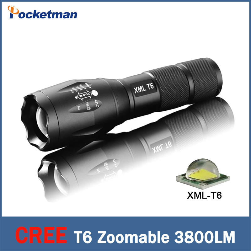 CREE XML-T6  flashlight Lanterna led Torch 3800 lumen Zoomable mini LED rechargeable  Flashlight  light lantern bike light mini rechargeable led flashlight led cree q5 lanterna high power torch 2000 lumen zoomable tactical penlight lantern bike light