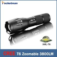 CREE XML-T6 фонарик Lanterna led Факел 3800 люмен Масштабируемые мини LED перезаряжаемые Фонарик tatica фонарь свет велосипеда