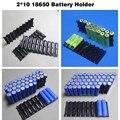 18650 soporte de la batería célula Cilíndrica 2*10 soporte de plástico 18650 caja de plástico soporte de la batería de iones de litio 2P10S 3P10S 4P10S 5P10S
