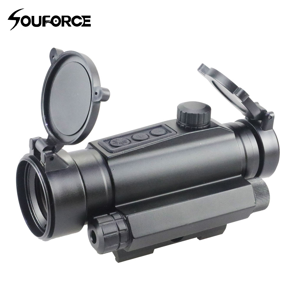 New 1x30 Optics Red Sight Optical Scope Single Point Dotted Line Red Coating QD Waterproof Riflescope for Airsoft Hunting Rifle прицел коллиматорный utg leapers new gen 1x30 закрытый
