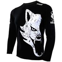 VSZAP GIANT MMA Long Sleeved Black T Shirt Men 2017 Spring Autumn New Cotton T Shirt