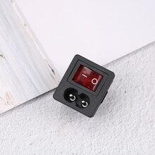 Красный кулисный выключатель с плавким предохранителем на входе розетка предохранителя вилка соединителя разъём Диэлектрическая интенсивность> 2000 В переменного тока/мин