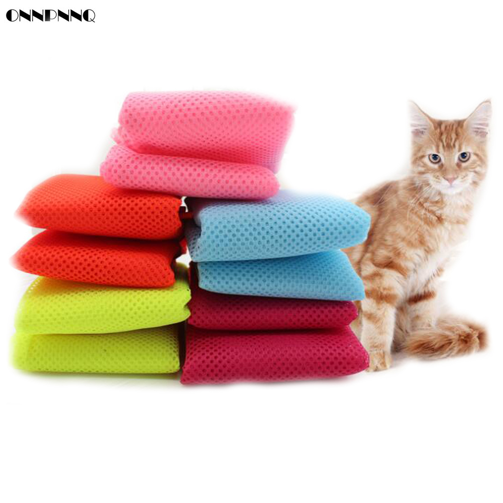 Onnpnnq Multifunctional Pet Grooming Bag Cat Fitted Mesh Clean Bath Bags Supplies