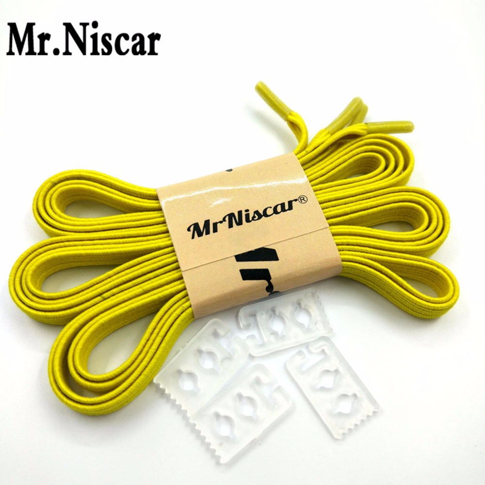 Mr.Niscar 1 Pereche Creative cauciuc Elastic Lazy Shoes Adult Pantofi Running No Tie Shoelaces Copii Athletic Shoes Laces Galben