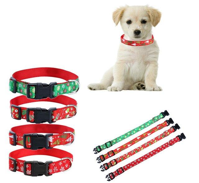S/M/L/XL Collare di Cane Dell'animale Domestico di Disegno Di Natale Di Natale Q