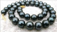 Hot Sale New Style 9 10mm Black AAA Tahitian Cultured Pearl Necklace 17