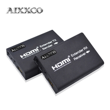 AIXXCO HDMI Extender 100m HDMI Repeater with IR Remote 1080P over Single RJ45 Cat5 Cat5e Cat6 Cat7 Cable Support for PC DVD PS3