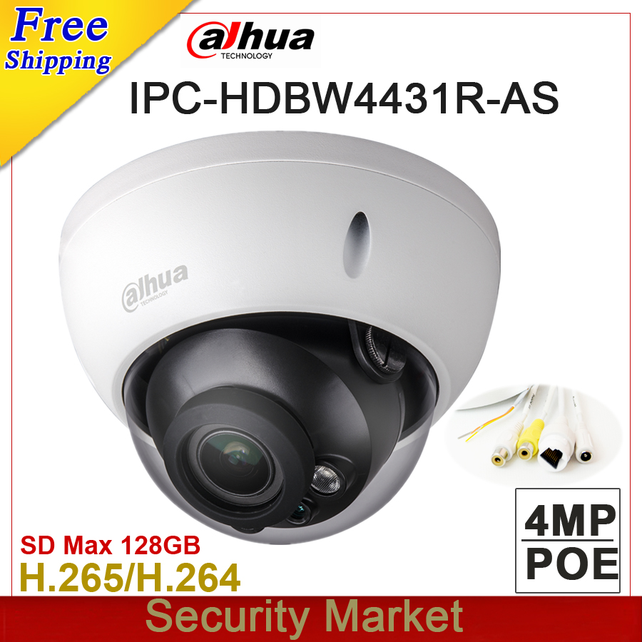 bilder für Whosale Original Dahua 4MP Kamera IPC-HDBW4431R-AS ersetzen IPC-HDBW4421R-AS IR Full HD IP POE Dome Kamera DH-IPC-HDBW4431R-AS
