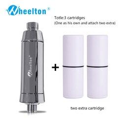 Filtro de agua para ducha de baño Wheelton (H-301-2E) suavizador de cloro y Metal pesado purificador de salud baño para baño saludable