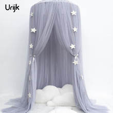 Urijk Bed Curtain Hung Dome Baby Mosquito Net Girls Hanging Mosquito Net Bed Tents for Children Girls Room Decoration New Year(China)