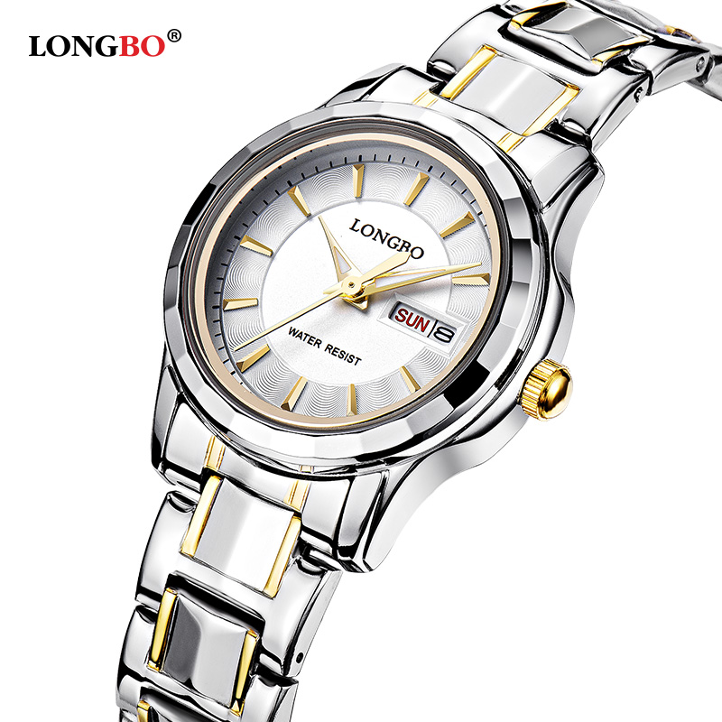 0e6e1a5bf6d Mulheres Relógios Relógio de Aço Pulso para Mulheres dos Homens Longbo