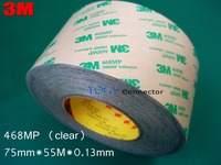 3M 468MP, (75mm*55M*0.13mm) High Performance Adhesive Transfer Tapes with Adhesive 200MP, Metal Nameplates Rating Plates Bond