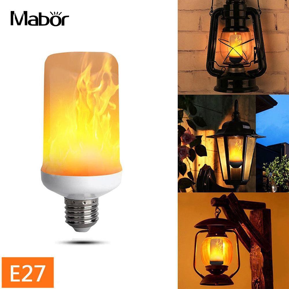 Creative Light Bulbs Fire Light Flame Effect Lamp Decoration Party 4w E27 Fashion AC185-265V 2835SMD