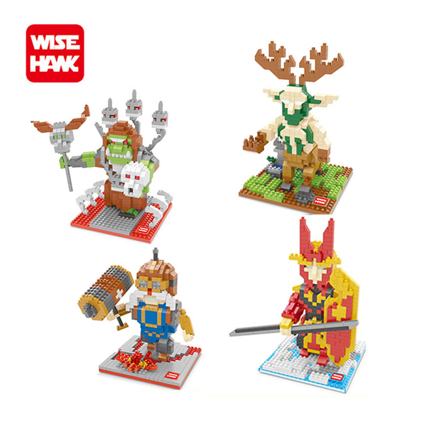 WiseHawk Funny Toys Nanoblocks Dwarf Action Figures 3D Plastic Anime Cartoon Construction Bricks Educational Game Gifts Juguete wisehawk hot plastic nano blocks kawaii anime cartoon one piece luffy action figures building bricks diy models educational toys