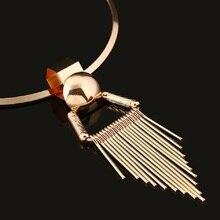 Silver & Gold Round Tassel Necklace