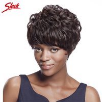 Sleek 100% Human Hair Wigs Short Hair Wigs for Black Women Brazilian Curly Hair Wig Aliexpress UK Tape curly wigs HH Alex