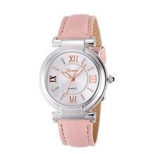 Римские цифры freeshipping ремешок кварцевые кожаный наручные девушка браслет часы женщин