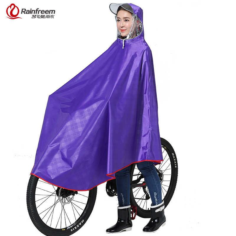 Rainfreem непроницаемой плащ Для женщин/Для мужчин толстые Велосипедный Спорт пончо от дождя Plaid Oxford/Вязание жаккардовая Для женщин Водонепроницаемый Дождевики и зонты
