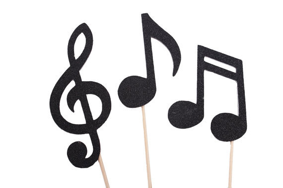 Printable Music Note Cake Topper