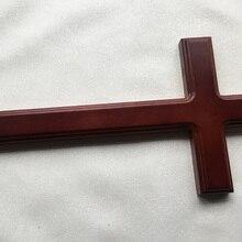 40 см христианский крест из цельного дерева дома настенные декорации распятие Латинский крест христианской вере молитва НАД ИИСУСОМ