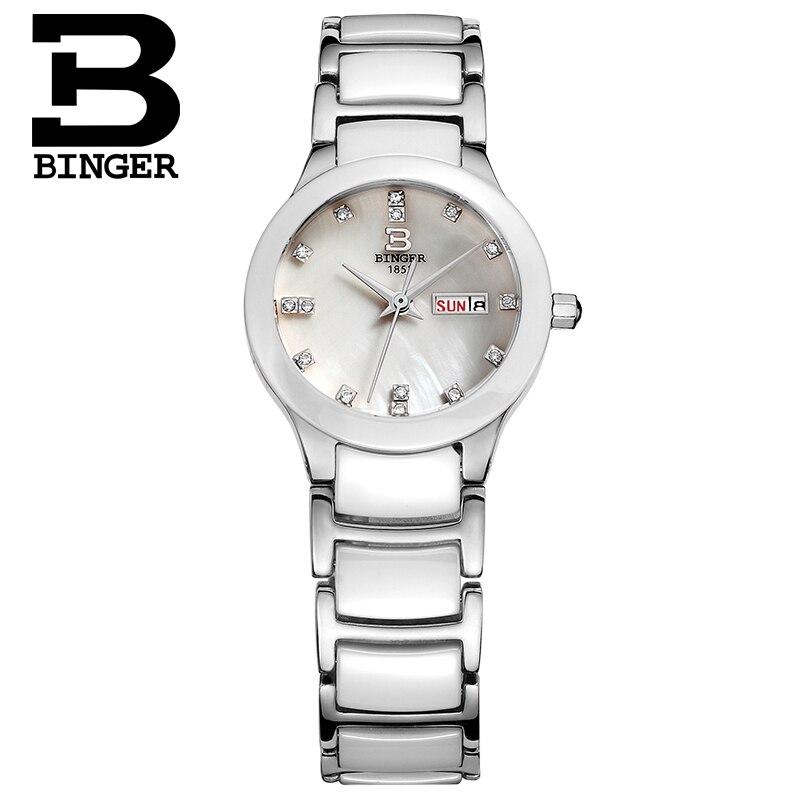 Лидирующий бренд белые керамические японские кварцевые женские часы для леди Relogio Saat Montre Horloge Feminino Bayan Femme ceramic BERNY - 4