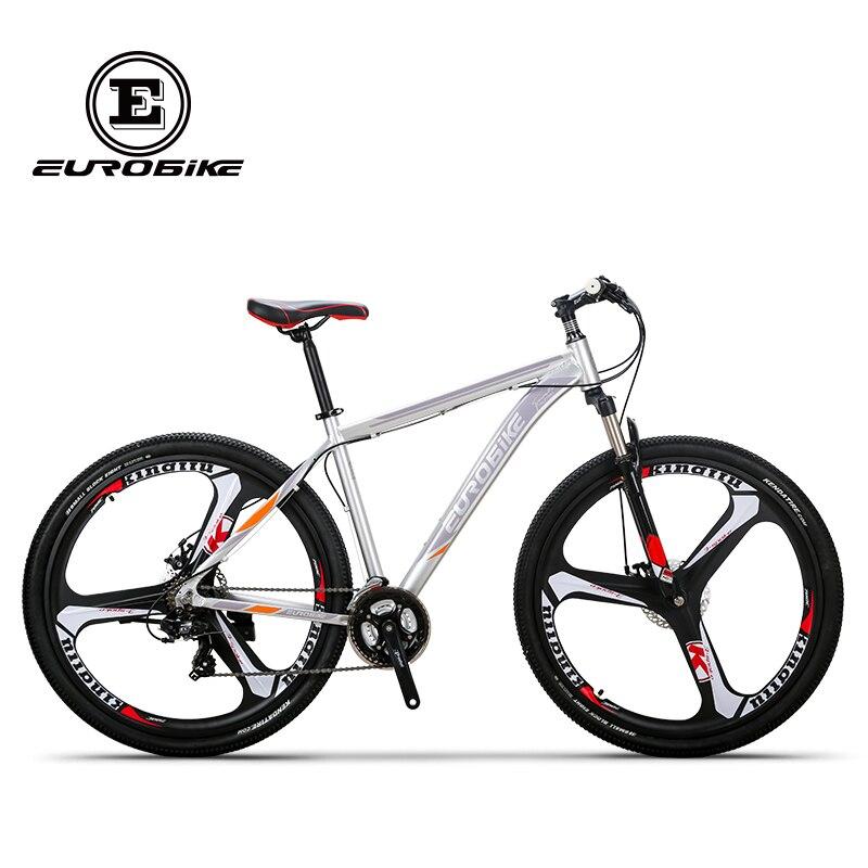 EUROBIKE Vélo De Montagne 21 Vitesse 3 Branches 29 pouces Roues Frein À Disque Double Cadre En Aluminium VTT Vélo