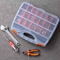 Piezas de plástico caja de almacenamiento múltiples compartimentos ranura caja de Hardware organizador gabinete herramientas componentes contenedor Accesorios