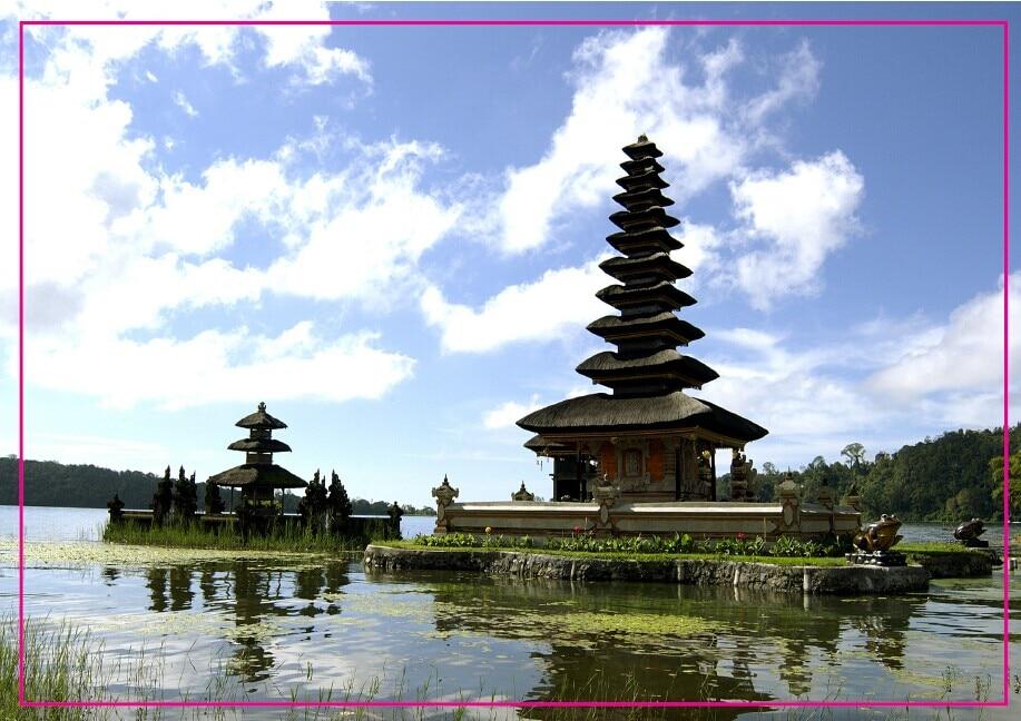 Rectangle Rigid Magnets ,Indonesia Bali Souvenir Photo Fridge Magnet 5625 Travel Gift tourist attractions