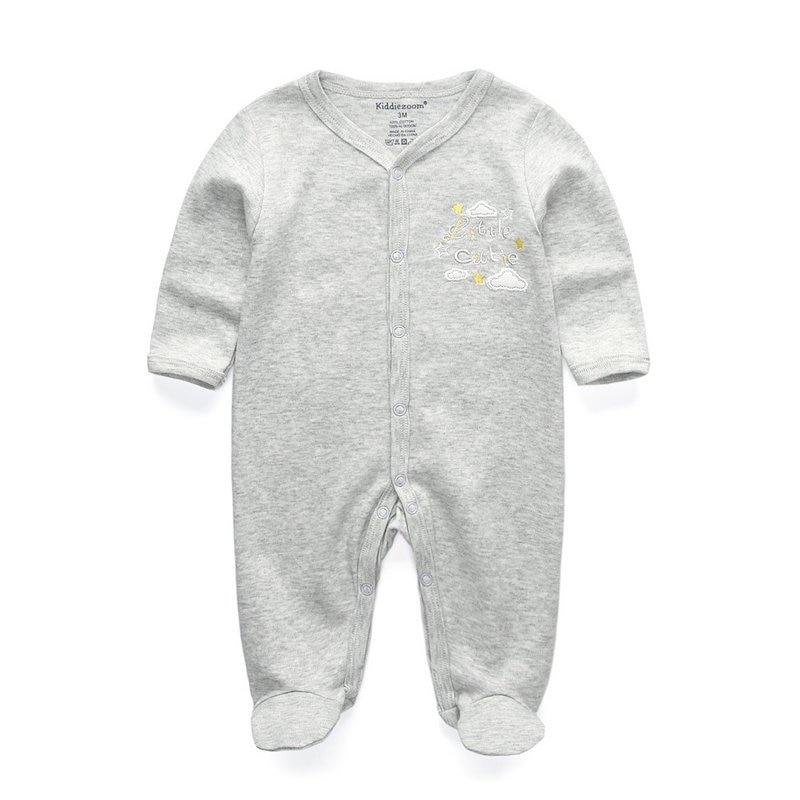 Милый детский комбинезон удобная одежда для новорожденных 0-9 м одежда для малышей, новорожденных одежда для малышей - Цвет: baby gray 1103