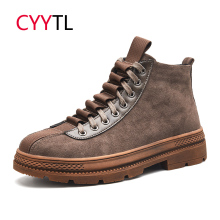 CYYTL Fashion Men Safety Winter Boots Male Shoes Motocycle Botas Work Military Sneakers Zapatos de Hombre Askeri Erkek Bot все цены
