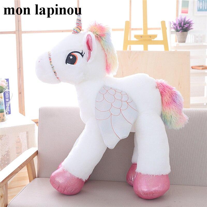 120cm Big Plush Unicorn Toy Stuffed Big Animal Soft Doll Cute