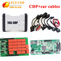 TCS CDP pro plus with 2015R1 software support 2015 year vehicles new VCI cdp without bluetooth +8 pcs full set CDP car cables