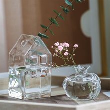 Simple Modern Creative Glass Transparent Mini Vase Ins Dry Flowers small The Living Room Decoration Ornament