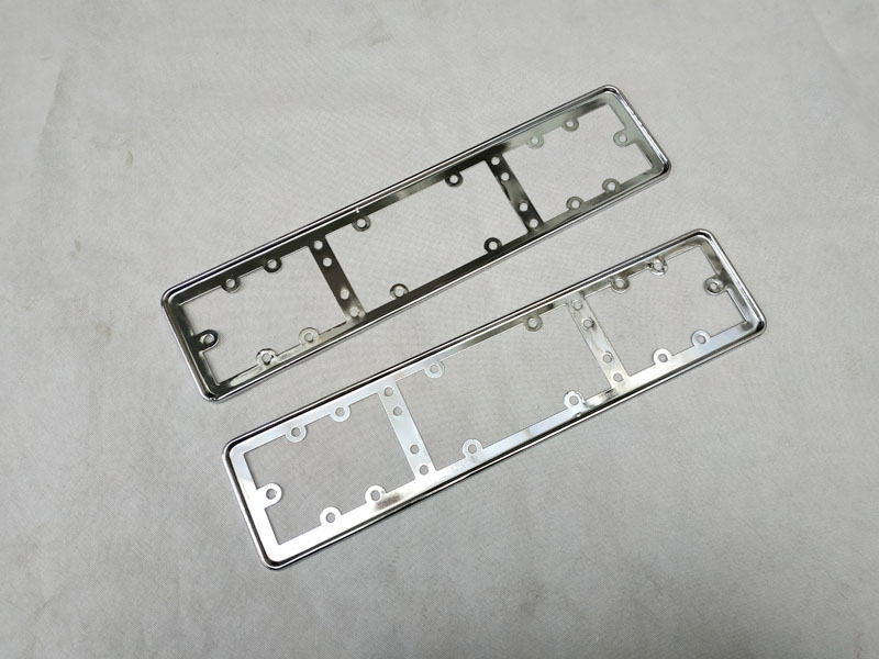 For EU Car License Plate Frame metal Car License Plate Frame Number plate Holder 2pcs (6)
